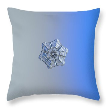 Throw Pillow featuring the photograph Snowflake Photo - Winter Fortress by Alexey Kljatov