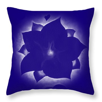 Throw Pillow featuring the painting Fleur Et Coeurs Monochrome by Marc Philippe Joly