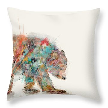 In Nature Bear Throw Pillow