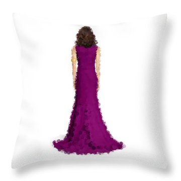 Throw Pillow featuring the digital art Amethyst by Nancy Levan