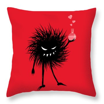 Evil Bug With A Love Potion Throw Pillow