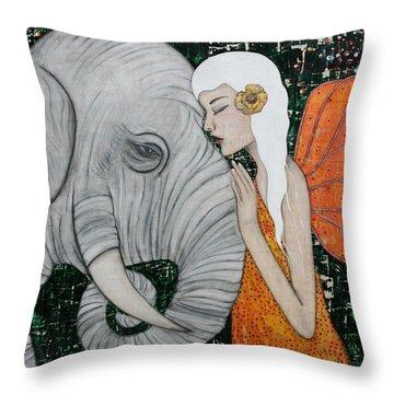 Erynn Rose Throw Pillow by Natalie Briney