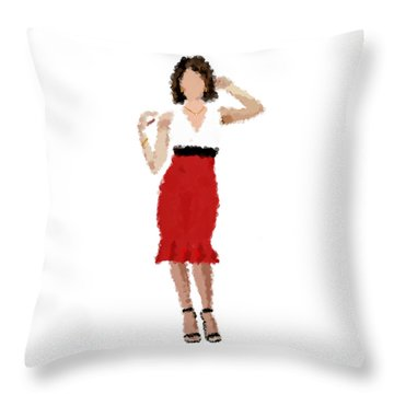 Throw Pillow featuring the digital art Ruby by Nancy Levan