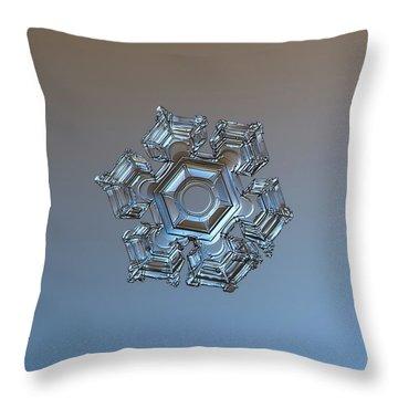 Snowflake Photo - Cold Metal Throw Pillow