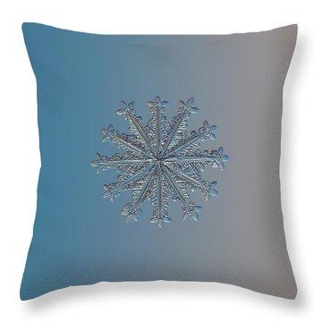 Snowflake Photo - Wheel Of Time Throw Pillow
