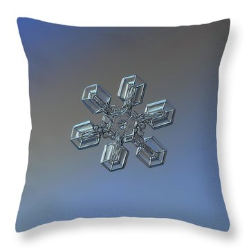 Throw Pillow featuring the photograph Snowflake Photo - High Voltage by Alexey Kljatov