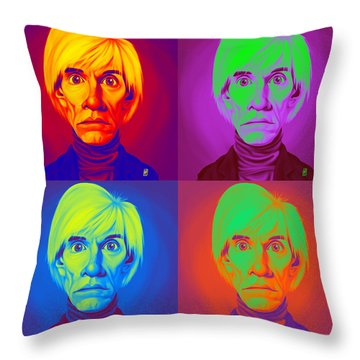 Andy Warhol On Andy Warhol Throw Pillow