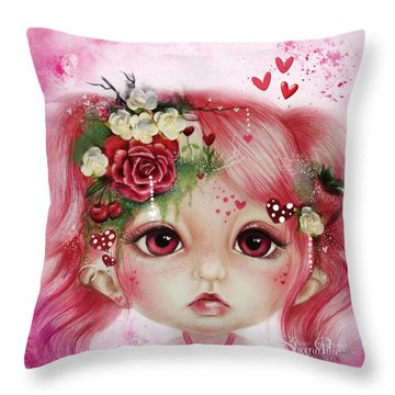 Rosie Valentine - Munchkinz Collection  Throw Pillow by Sheena Pike