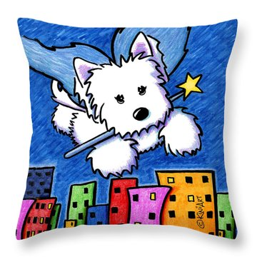 Fairy Princess Westie Throw Pillow