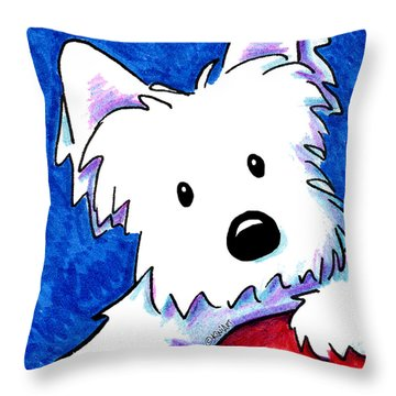 Wendell The Westie Throw Pillow