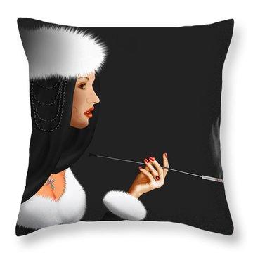 Lady Ninotschka Throw Pillow by Monika Juengling