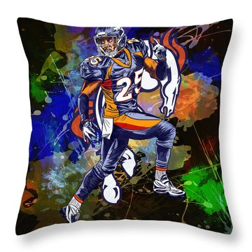 Throw Pillow featuring the drawing Super Bowl 2016  by Andrzej Szczerski