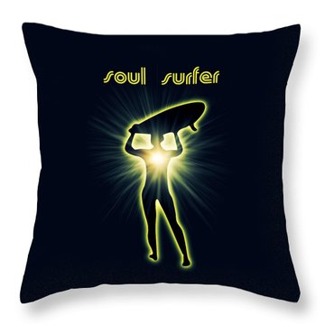 Soul Surfer Throw Pillow by Mark Ashkenazi