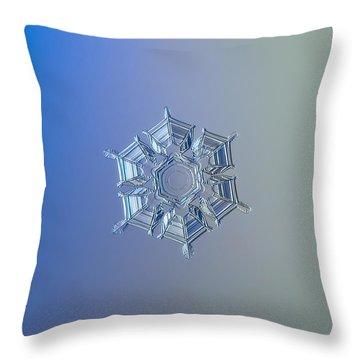 Snowflake Photo - Ice Relief Throw Pillow