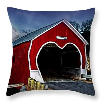 Throw Pillow featuring the photograph Love Is In The Air by DJ Florek