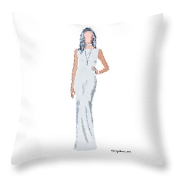 Throw Pillow featuring the digital art April by Nancy Levan