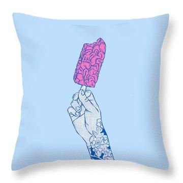 Brain Ice Cream Mmmmm Throw Pillow