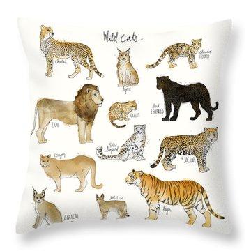 Wild Cats Throw Pillow