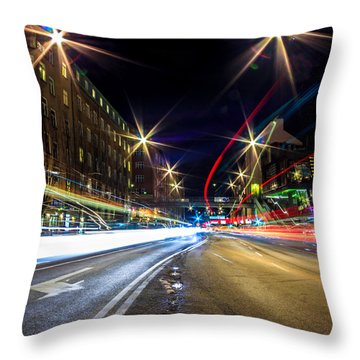 Throw Pillow featuring the photograph Light Trails 2 by Nicklas Gustafsson