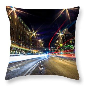 Light Trails 2 Throw Pillow
