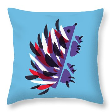 Abstract Colorful Hedgehog Throw Pillow