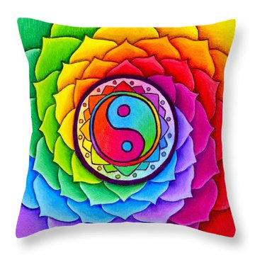 Healing Lotus Throw Pillow