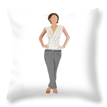 Throw Pillow featuring the digital art Alex by Nancy Levan