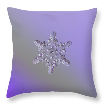 Snowflake Photo - Heart-powered Star Throw Pillow by Alexey Kljatov