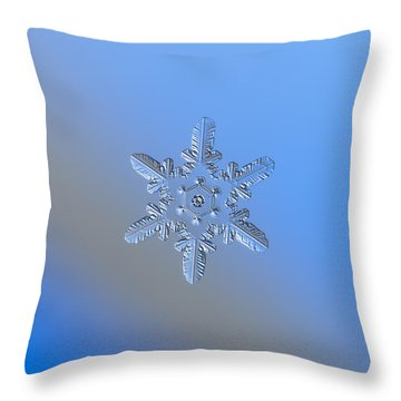 Snowflake Photo - Heart-powered Star Alternate Throw Pillow by Alexey Kljatov