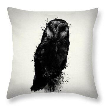 The Owl Throw Pillow by Nicklas Gustafsson