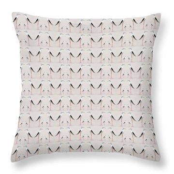 Tall Birds Pattern Throw Pillow