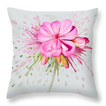 Pink Eruption Throw Pillow