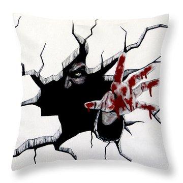 The Demon Inside Throw Pillow