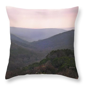 Rolling Hill Country Throw Pillow by Felipe Adan Lerma