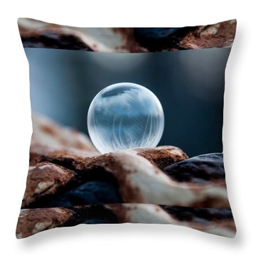 Wooden Hills Throw Pillow