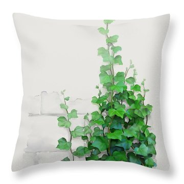 Vines By The Wall Throw Pillow by Ivana
