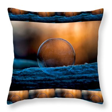 Sunrise Capture In Bubble Throw Pillow