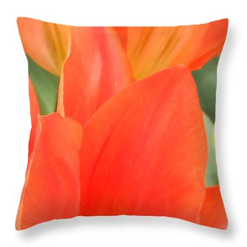 Orange Emperor Tulips Throw Pillow