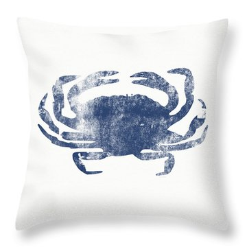 Blue Crab- Art By Linda Woods Throw Pillow