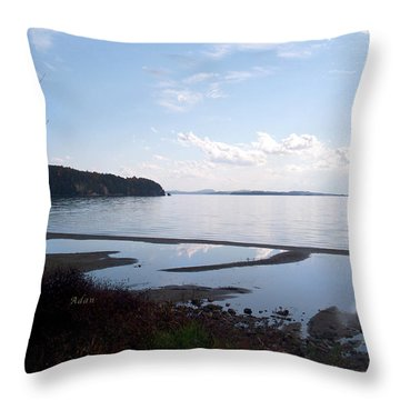 Throw Pillow featuring the photograph Rock Point North View Horizontal by Felipe Adan Lerma
