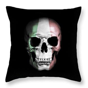 Throw Pillow featuring the digital art Italian Skull by Nicklas Gustafsson