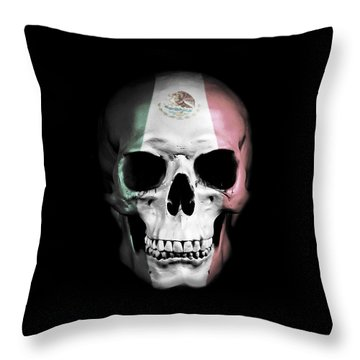 Throw Pillow featuring the digital art Mexican Skull by Nicklas Gustafsson