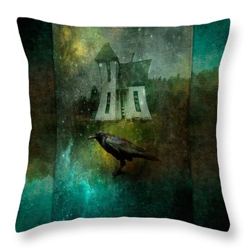 Crow House Throw Pillow