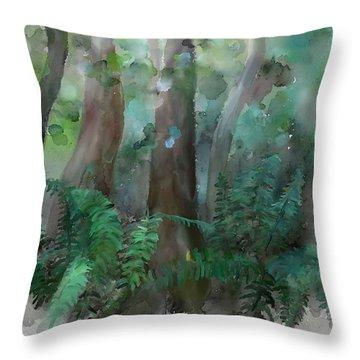 Jungle Throw Pillow by Ivana Westin