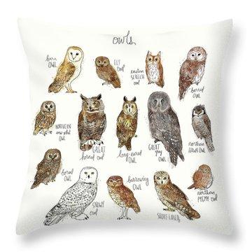 Burrow Owl Throw Pillows