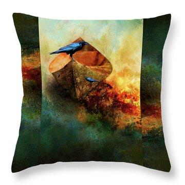 Beached Crow Throw Pillow