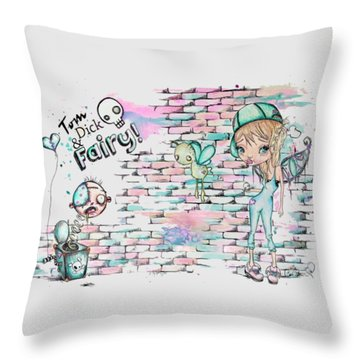 Tom Dick And Fairy Throw Pillow