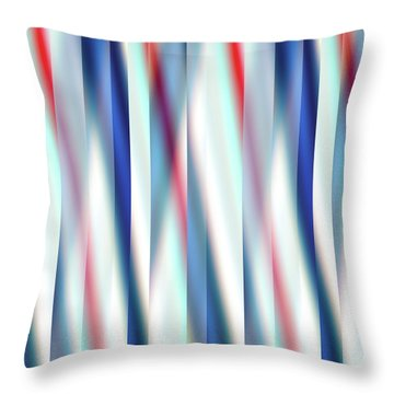 Throw Pillow featuring the digital art Ambient 12 by Bruce Stanfield