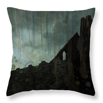 Celtic Ruins Throw Pillow