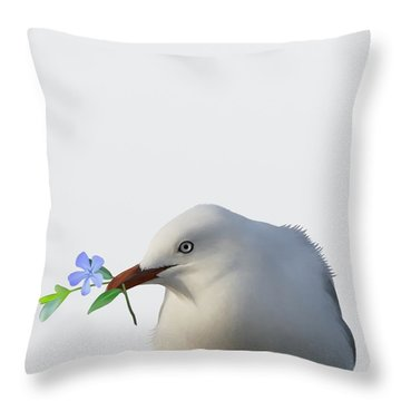 Seagull Throw Pillow